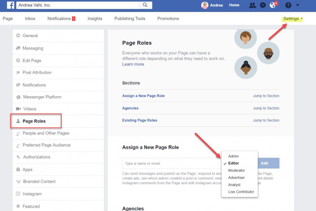 Xem các quyền quản trị trên Fanpage Facebook