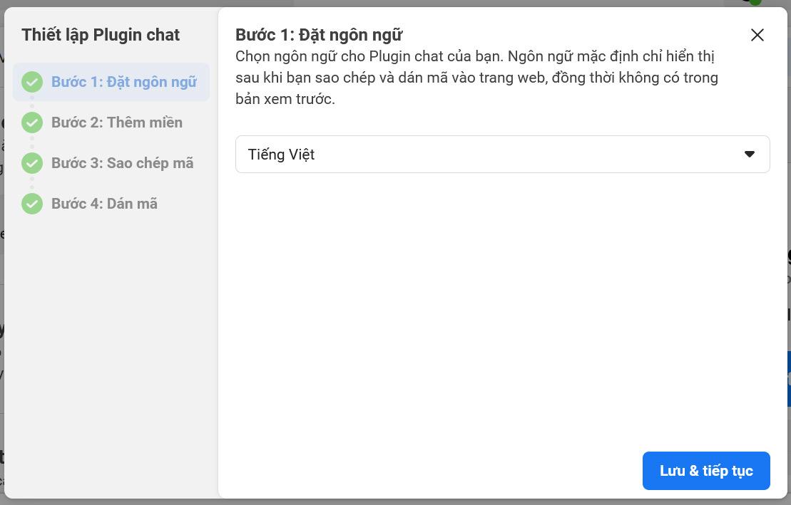 Đặt ngôn ngữ cho Plugin chat